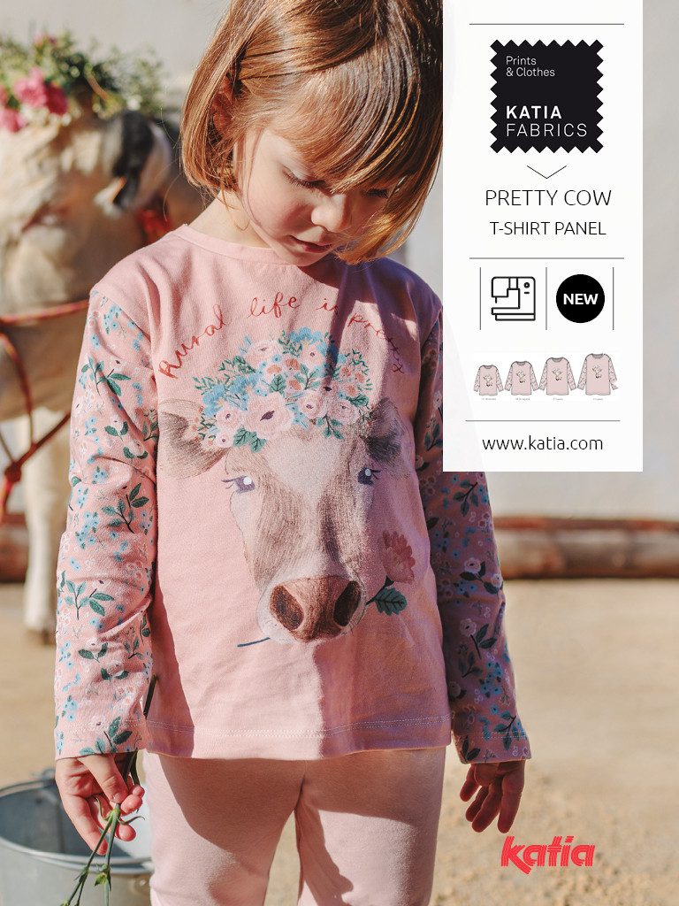 panel de camiseta pretty cow