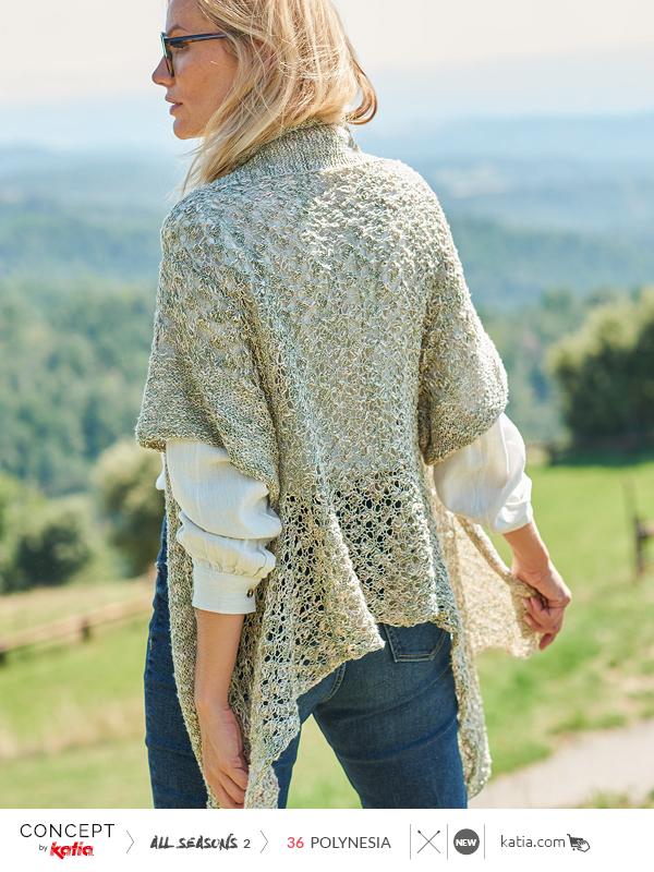 chaleco largo tricot
