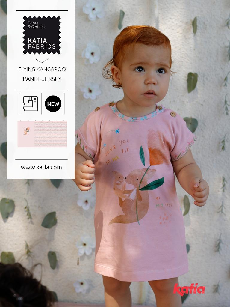 panel de vestido bebe