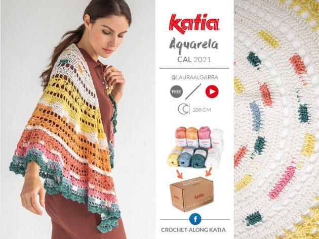 CAL Aquarela Chal a crochet