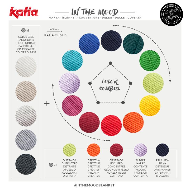 cómo combinar lanas de colores
