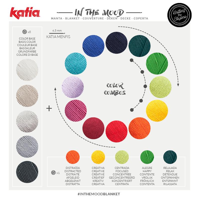 cómo combinar hilos de colores