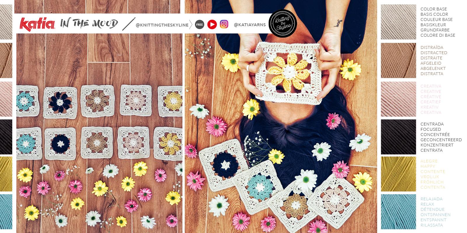 granny squares de flores