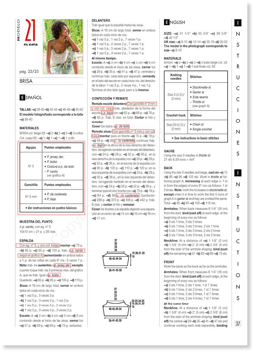 consejos para seguir patrones de revistas Katia