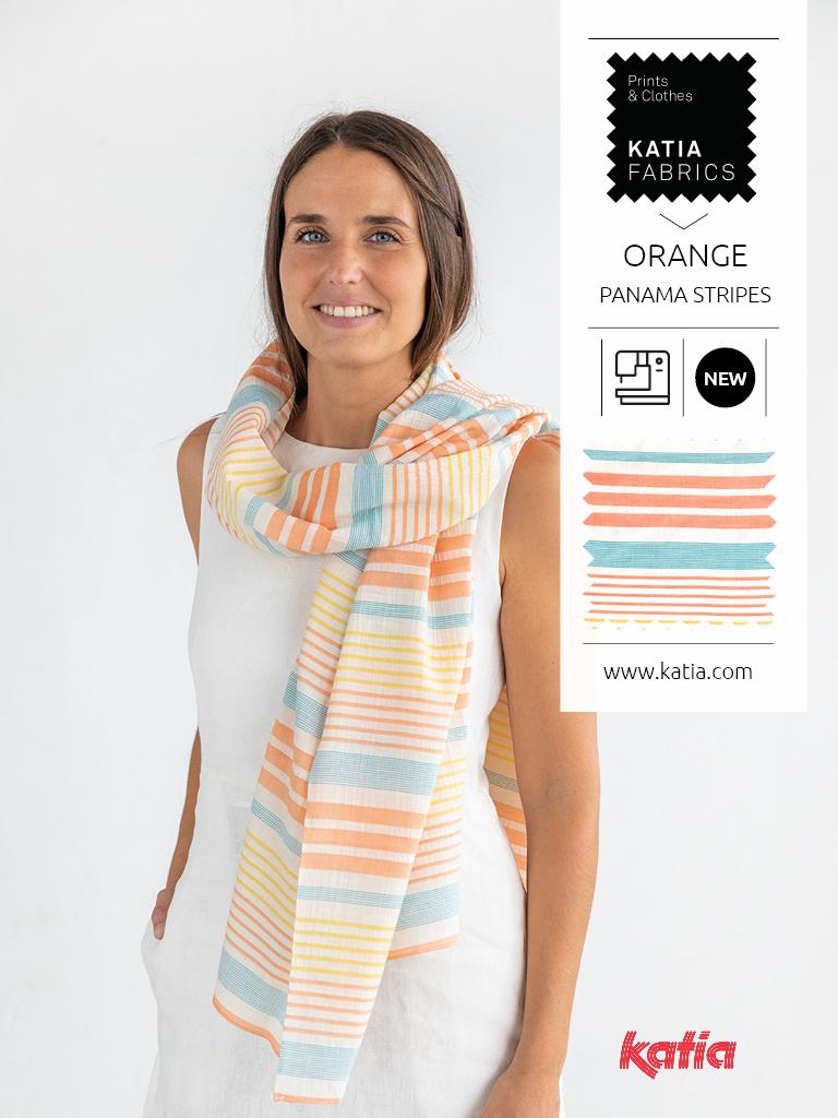 panama stripes orange patrón pañuelo