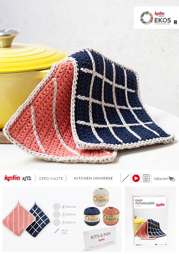 kit agarradores de horno a crochet