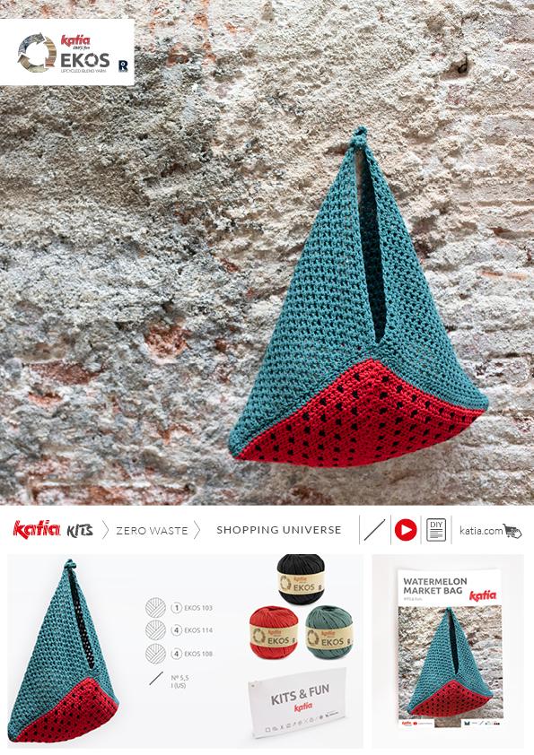 kit bolsa crochet triangular