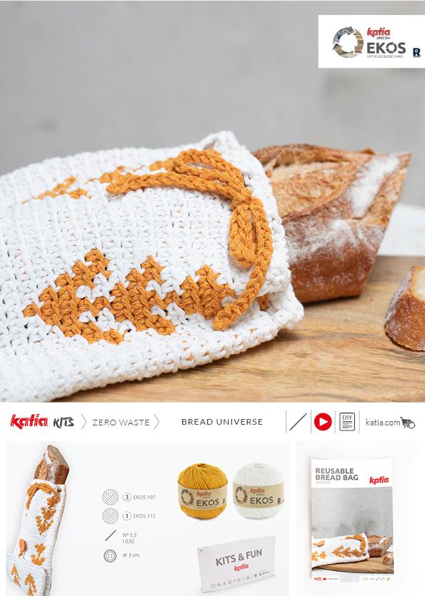 bolsa del pan a ganchillo