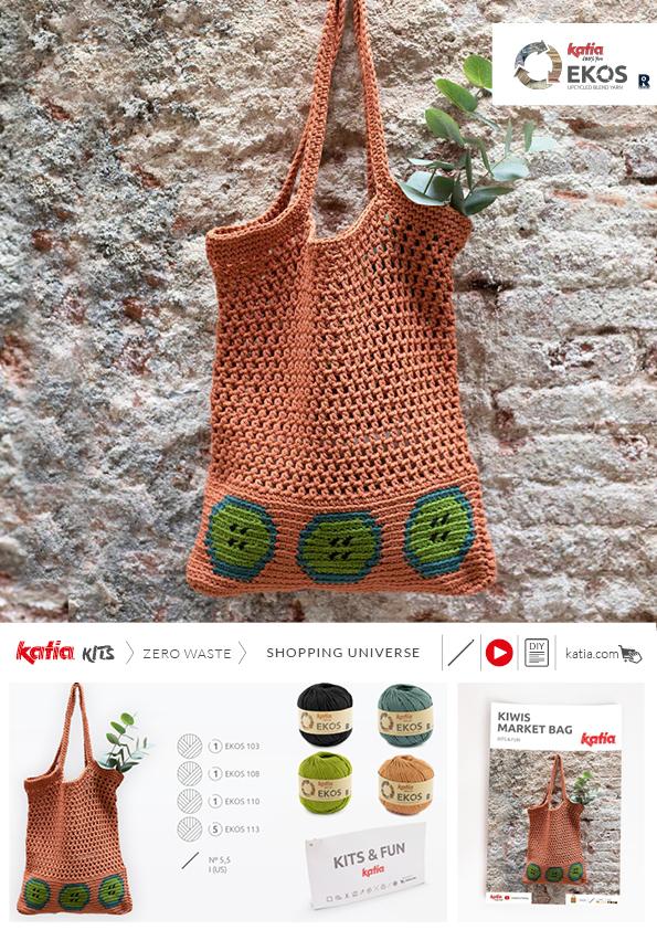 kit bolsa mercado a crochet