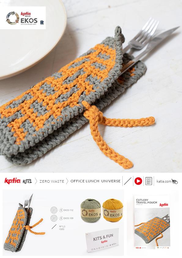 kit portacubiertos crochet