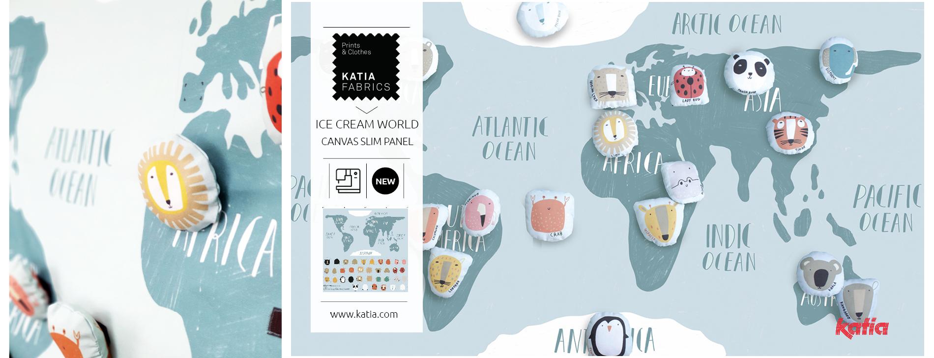 world map children's panel