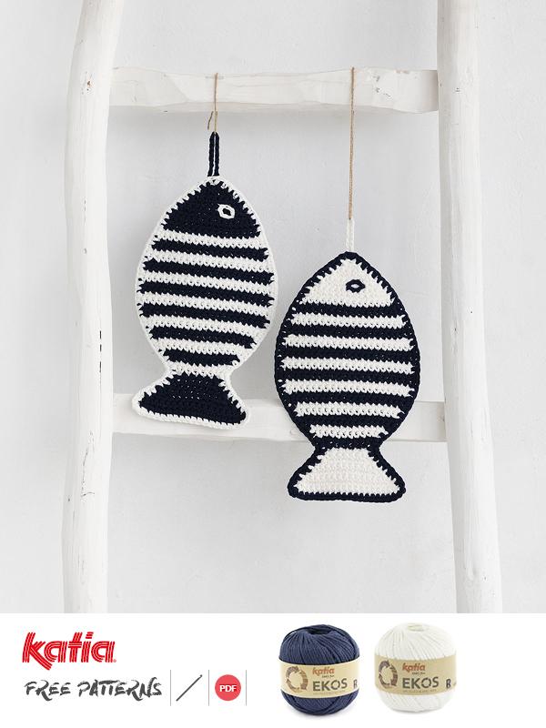 Agarradores de ollas en forma de pez