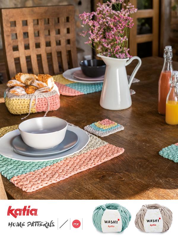 patrones de crochet para vestir la mesa