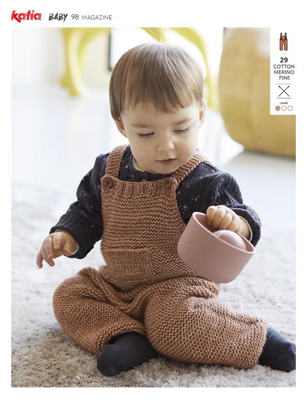 garter stitch baby romper