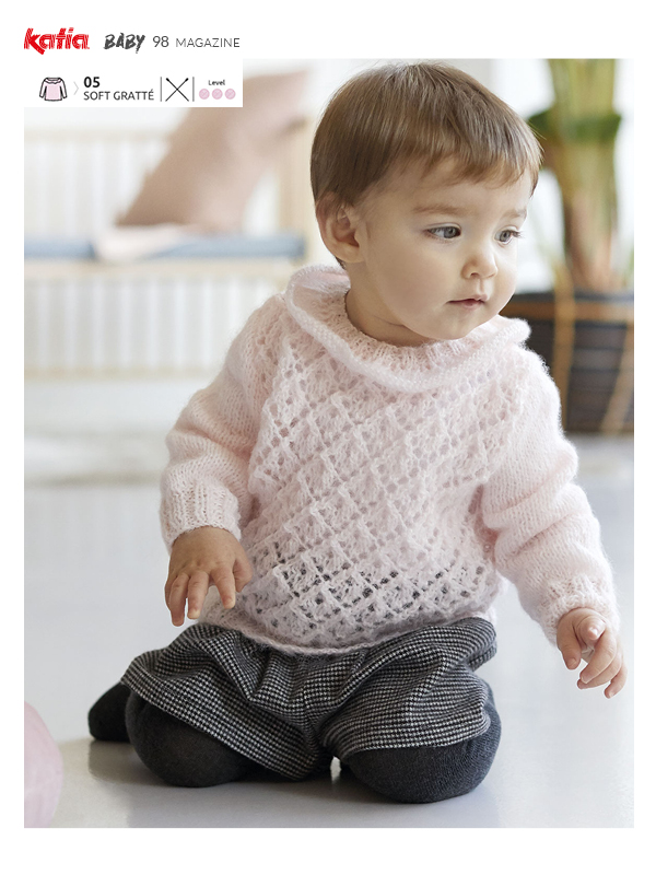 lace baby sweater