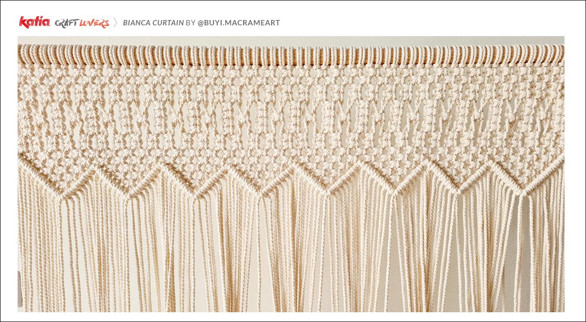 nudo diagonal macramé