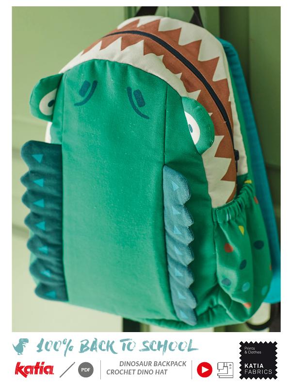 tutorial mochila dinosaurio