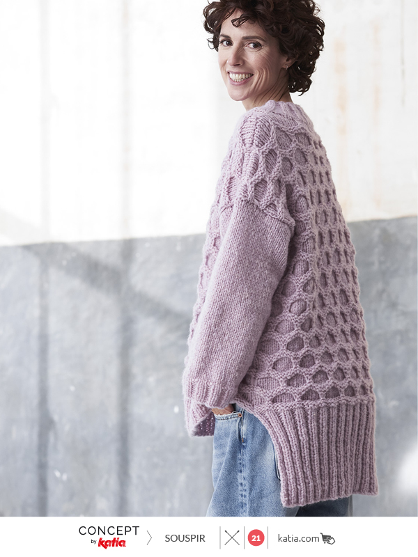 honeycomb oversized pullover