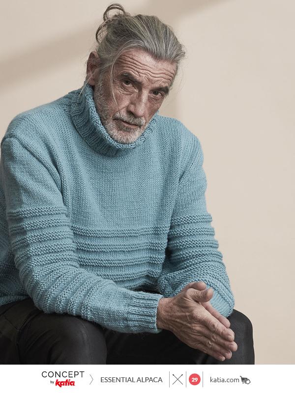 Double neck men's sweater