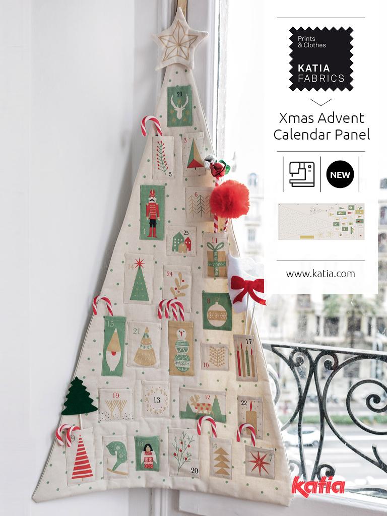 panel calendario de navidad