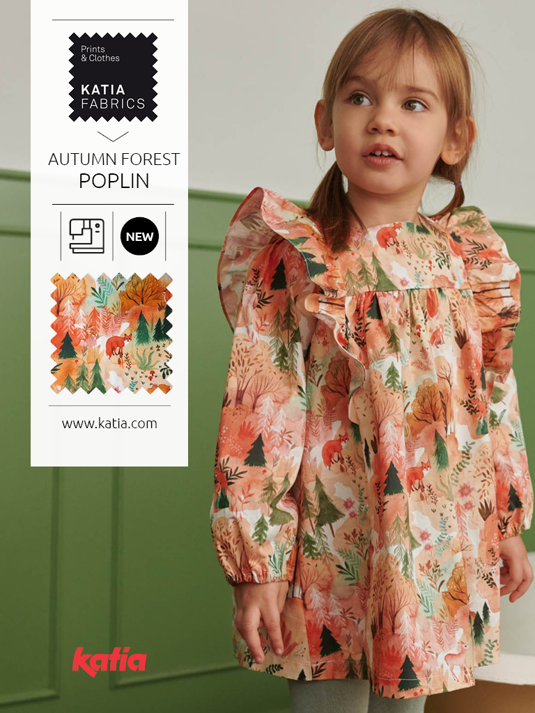 Autumn forest popelin