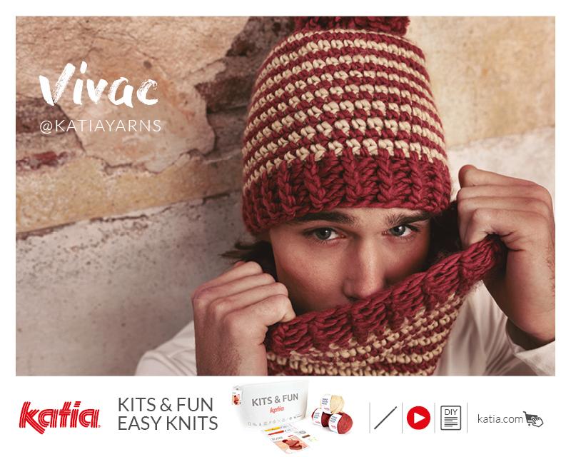 Kit Principiantes Gorro y Cuello a Crochet Vivac