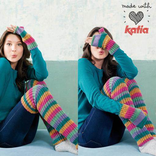 comment tricoter avec des rayures