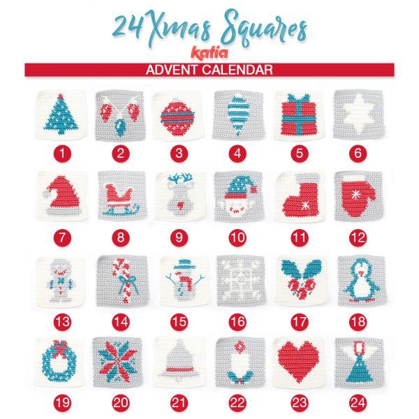 24 speciali Xmas Squares