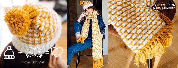 Berretti e sciarpe di lana  16 modelli ai ferri per scaldare tutta ... 84a2c1cf0e6b