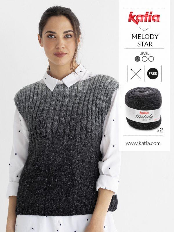 maglia a coste senza maniche