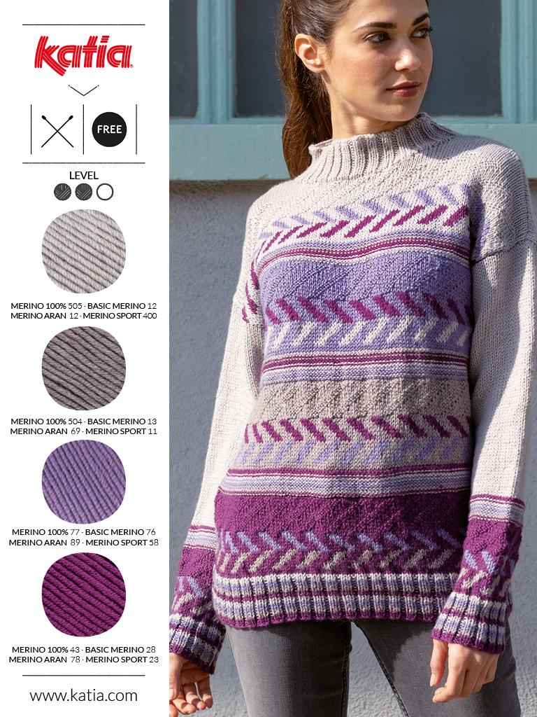 maglione con motivi geometrici