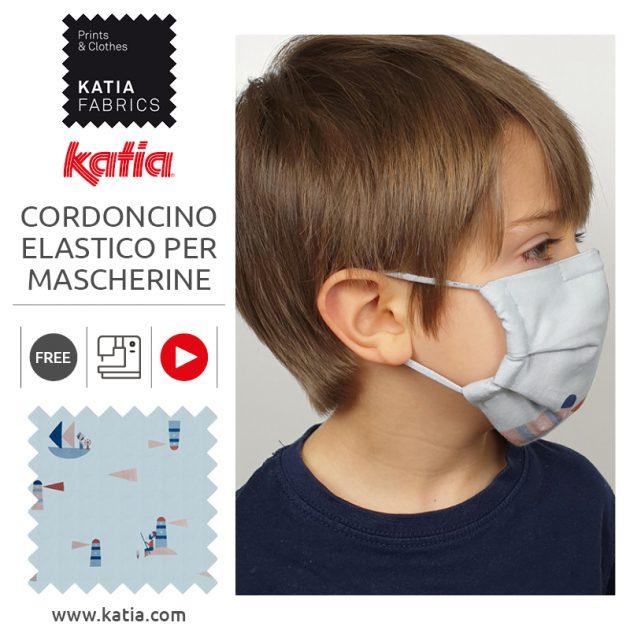 Cordoncino elastico per mascherine