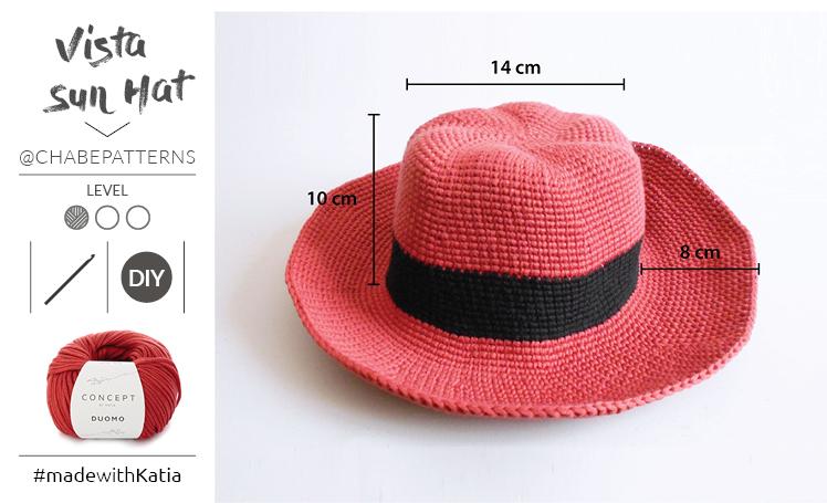 Come realizzare un cappello all'uncinetto a tesa larga