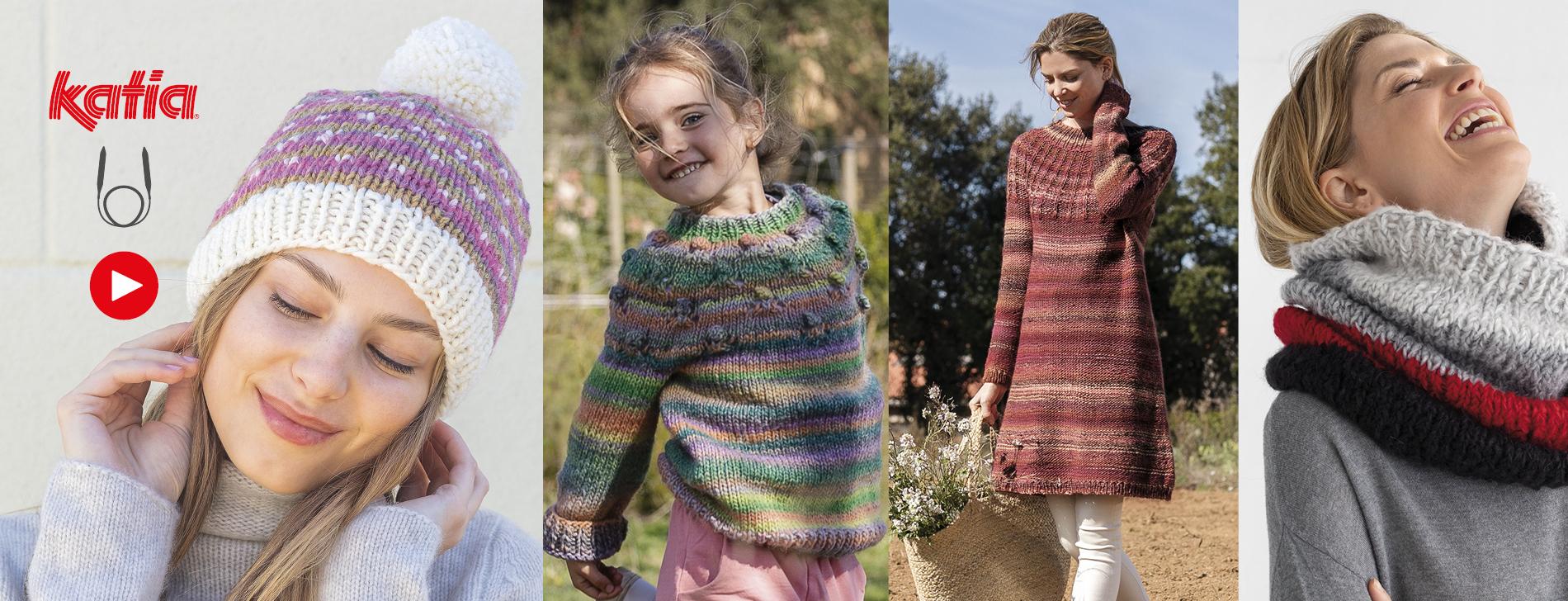 Impara a lavorare a maglia con i ferri circolari