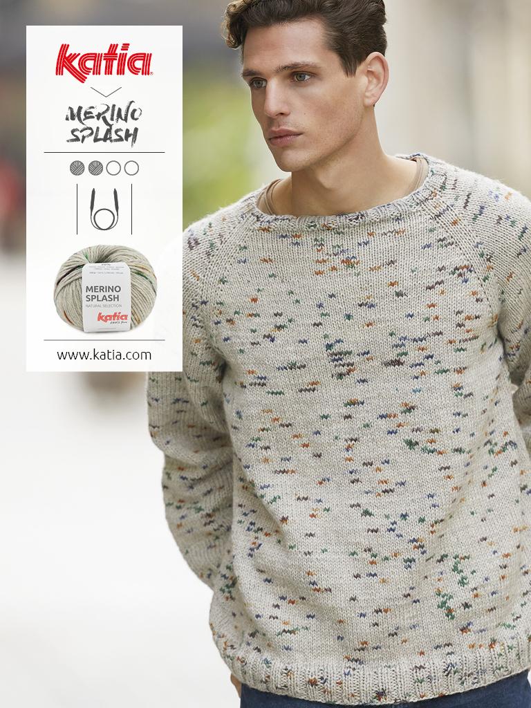 maglione top-down con manica raglan