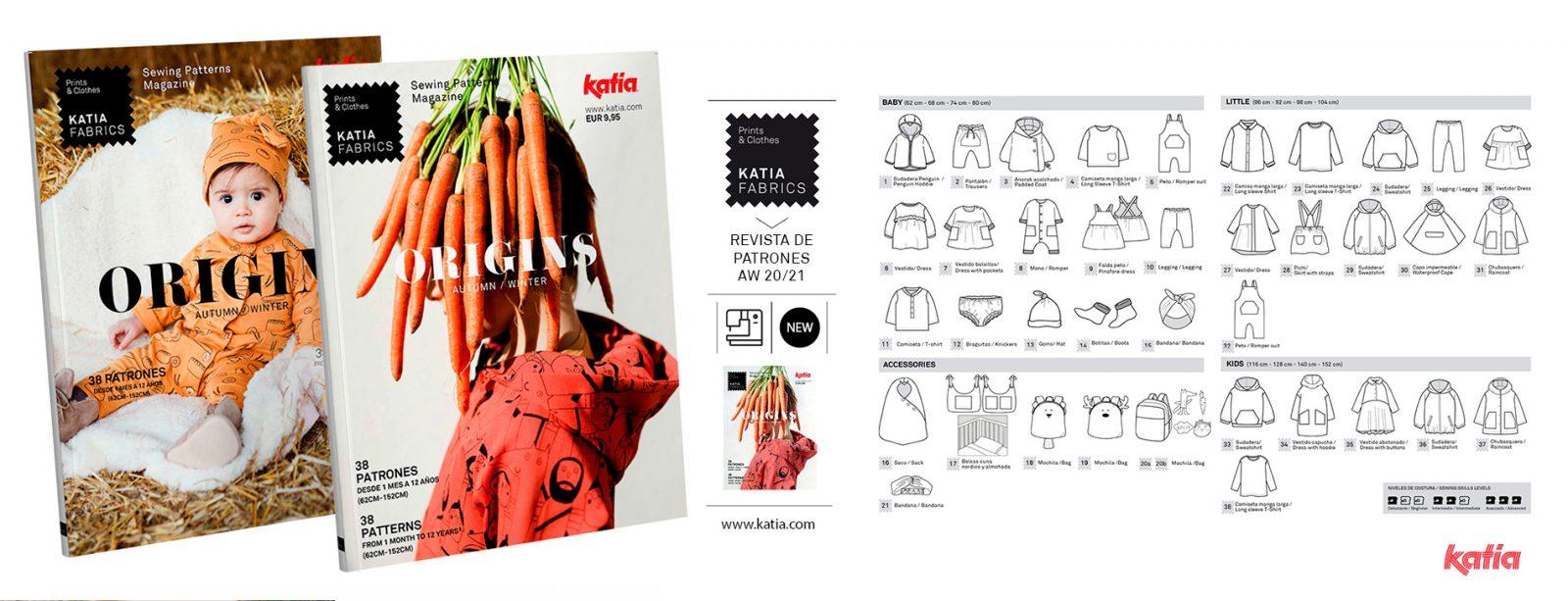 rivista di cucito Katia Fabrics