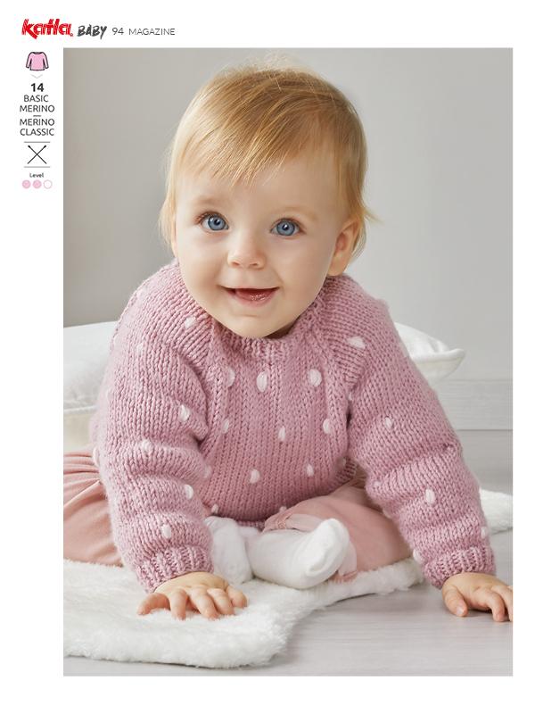 pullover da neonato con maniche raglan