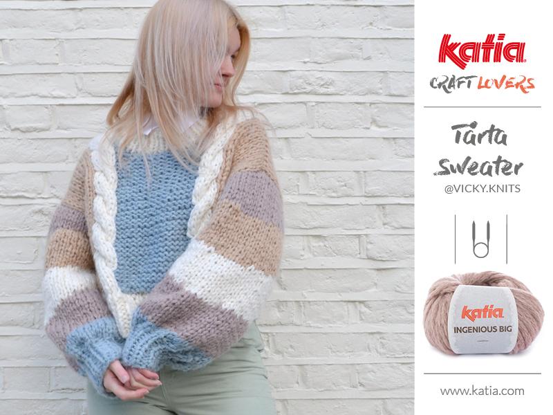 maglione con trecce