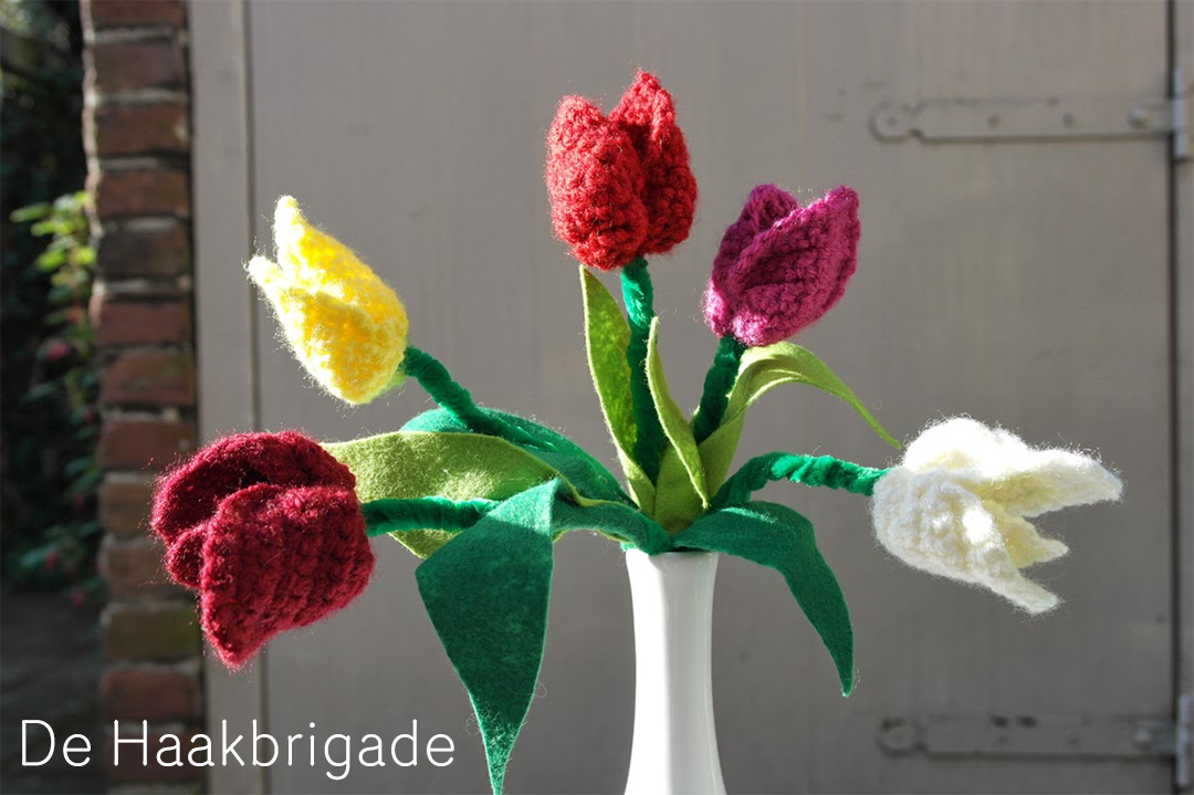 tulpen haakpatronen voor Koningsdag door de haakbrigade
