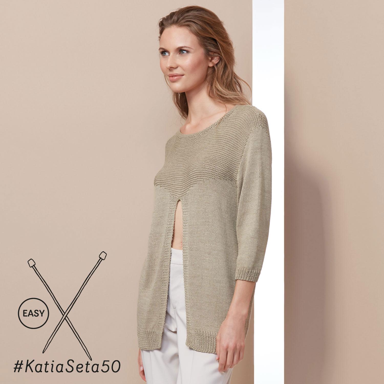 Katia gebreid topje met open voorkant - elegante en eenvoudige patronen