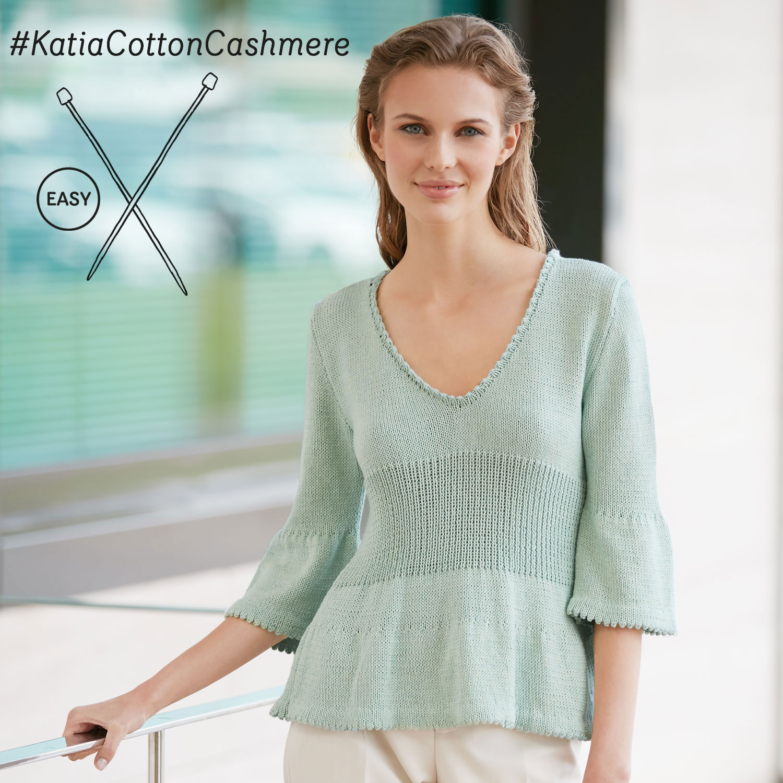Katia gebreid truitje - elegante en eenvoudige patronen
