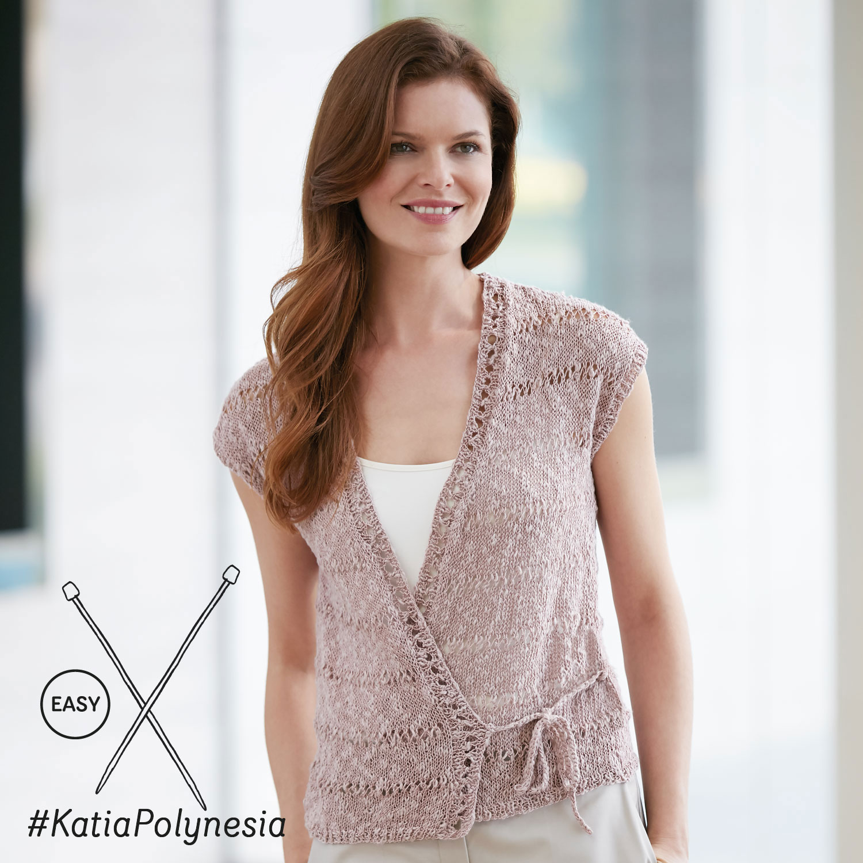 Katia gebreid truitje met mooie details - elegante en eenvoudige patronen