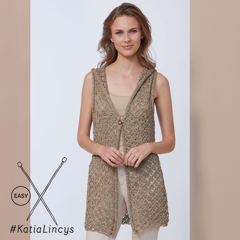 Katia gebreid vest - elegante en eenvoudige patronen