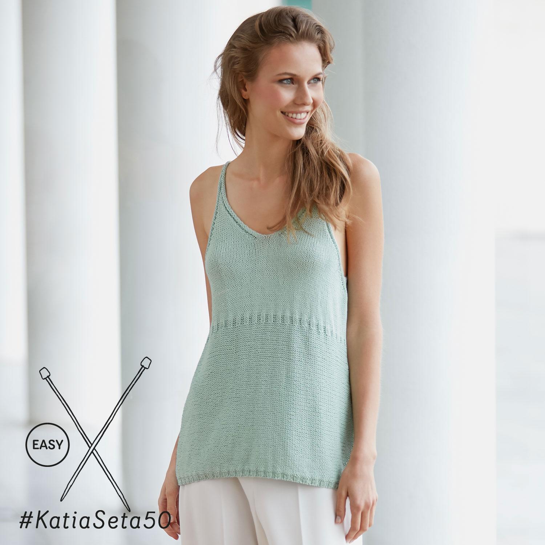 Katia gebreid zomertopje - elegante en eenvoudige patronen