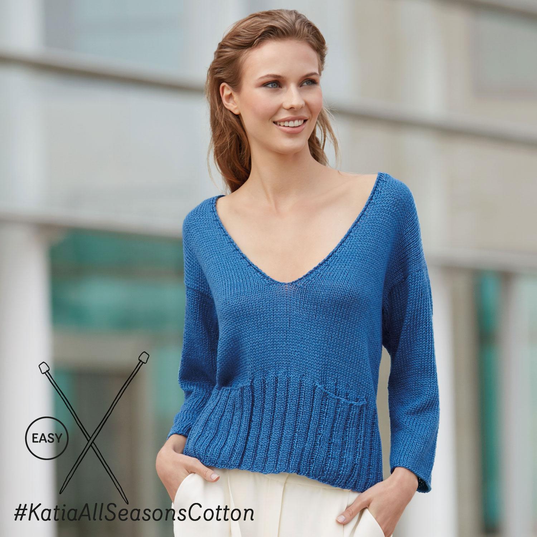 Katia gebreide trui - elegante en eenvoudige patronen