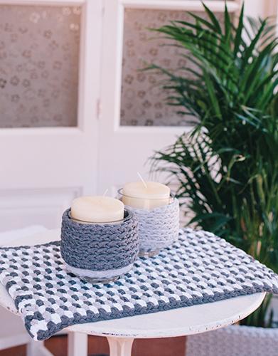 kaarsje haken breien voor op tafel - patronen voor Moederdag