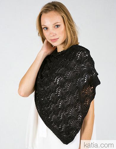 sjaal omslagdoek haken breien met katia - patronen voor Moederdag