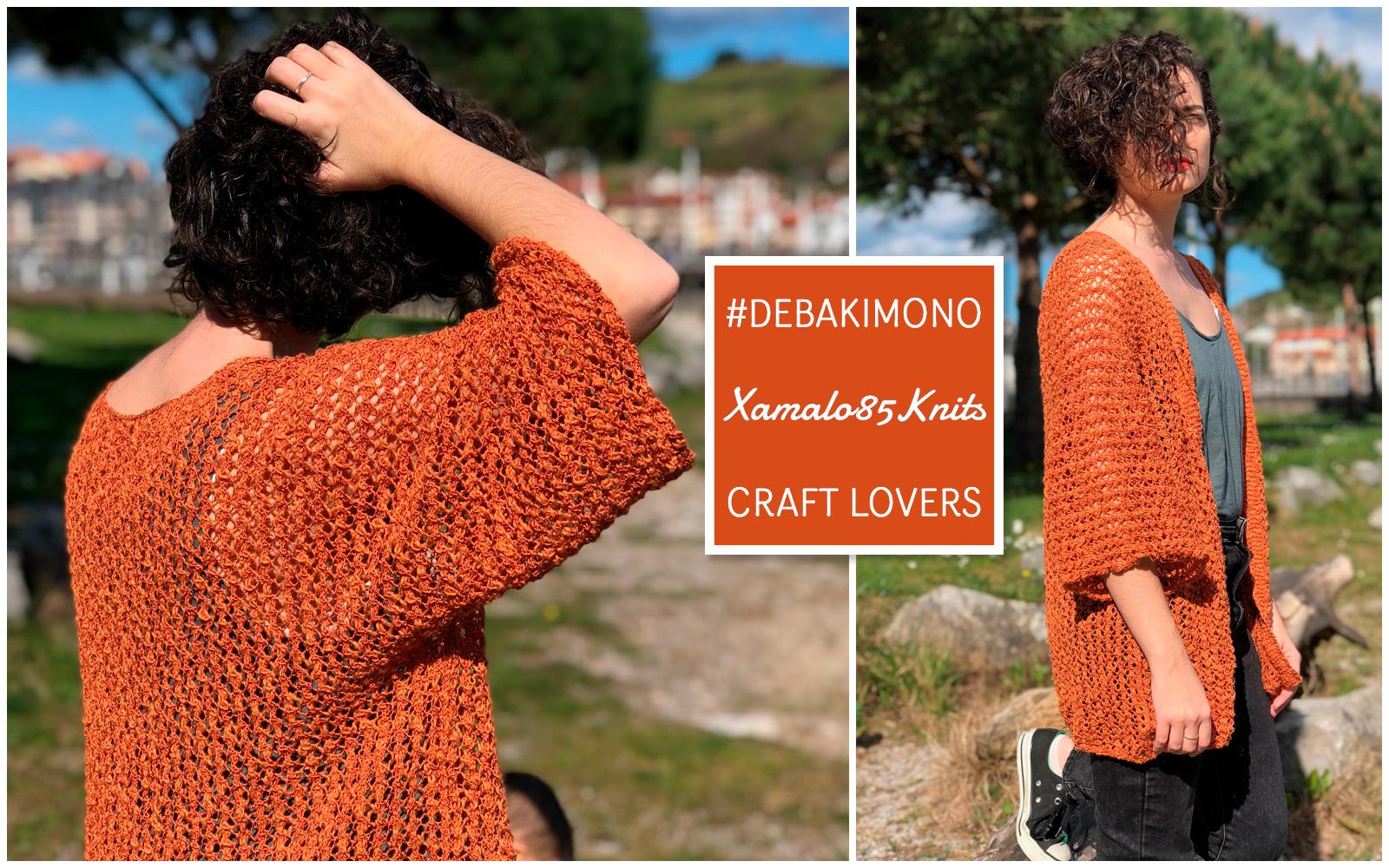 Kimono breien die uit slechts een geheel bestaat - Katia Garens en ontwerper xamalo85