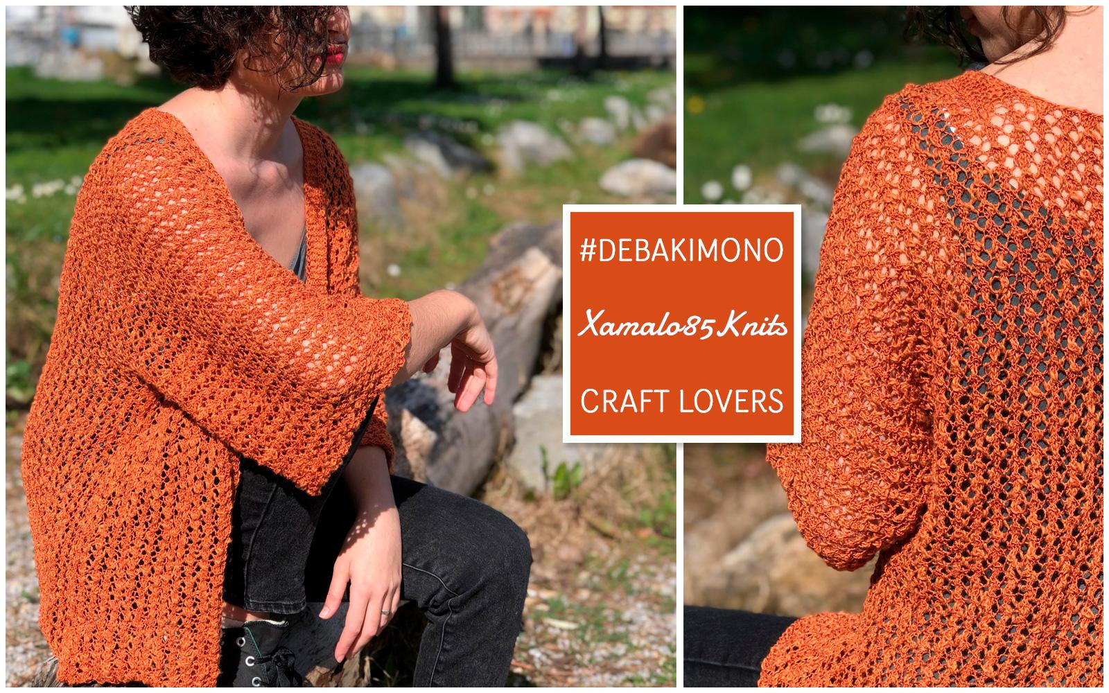 Kimono breien die uit slechts een geheel bestaat - Katia Garens : ontwerper xamalo85