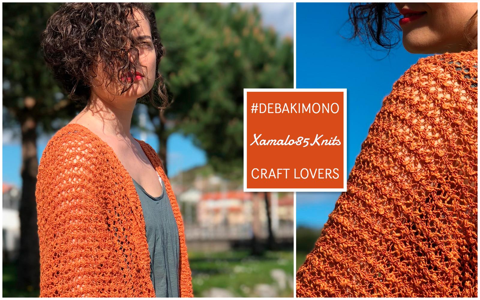 Kimono breien die uit slechts een geheel bestaat - patroon door Katia Garens en ontwerper xamalo85